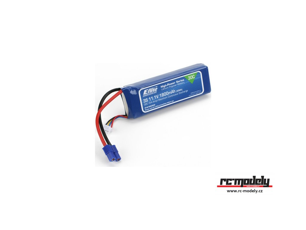 E-flite LiPo 11.1V 1800mAh 30C EC3