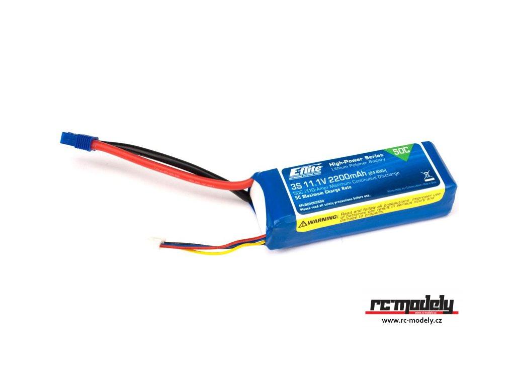 E-flite LiPo 11.1V 2200mAh 50C EC3