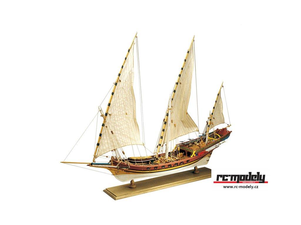 AMATI Sciabecco pirátská loď 1753 1:60 kit