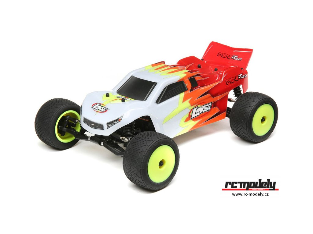 Losi Mini-T 2.0 1:18 RTR červená/bílá