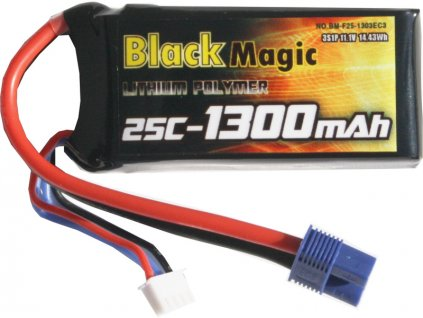 Black Magic LiPol 11.1V 1300mAh 25C EC3
