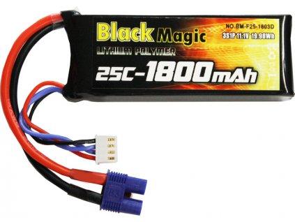 Black Magic LiPol 11.1V 1800mAh 25C EC3