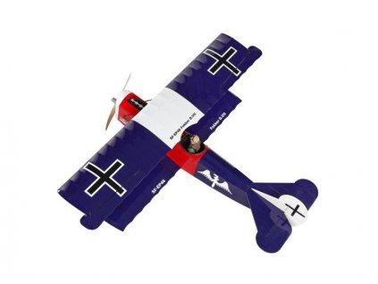Fokker D.VII 1.2m ARF tmavě modrý