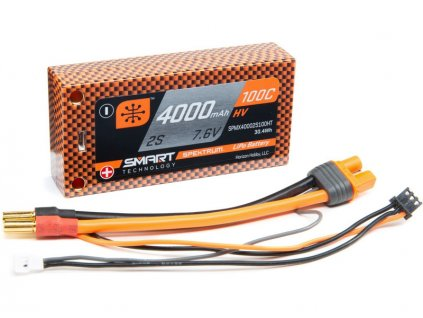 Spektrum Smart LiHV 7.6V 4000mAh 100C Short HC