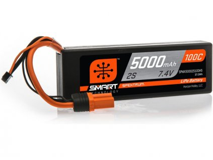 Spektrum Smart LiPo 7.4V 5000mAh 100C HC IC5