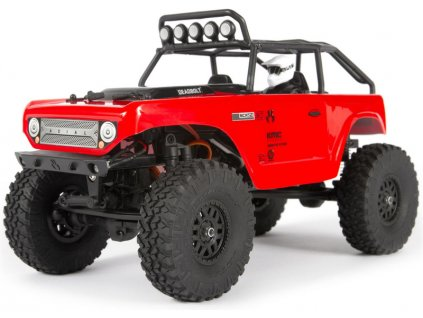 Axial SCX24 Deadbolt 1:24 4WD RTR červený