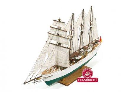 CONSTRUCTO J.S. Elcano školní plachetnice 1:205 kit