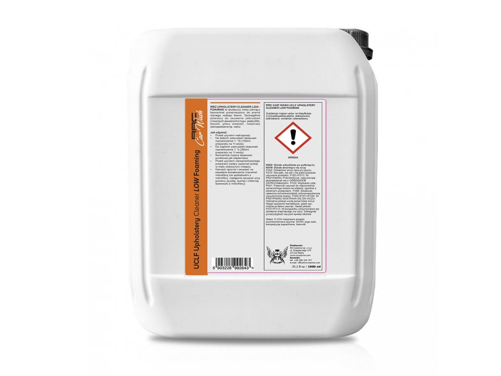 RRC CarWash UPHOLSTERY CLEANER LOW FOAMING 5L