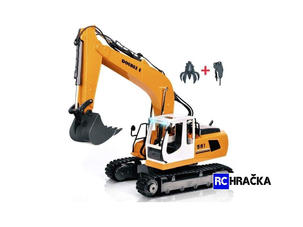 RC stroj 3v1- bagr - drapák - bourací kladivo - 17kanálů