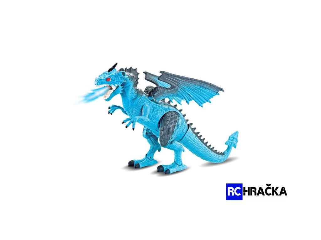 Ohnivý drak chrlící páru