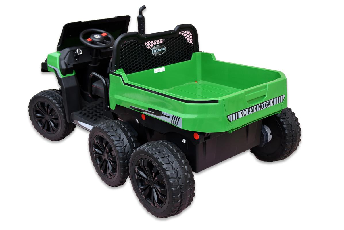 Kipper s 2,4G, dvoumístný, 24V, motory 4x 200W, zelený