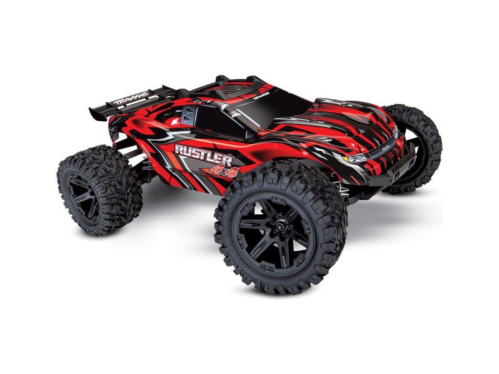 Traxxas Rustler 1:10 4WD RTR červený