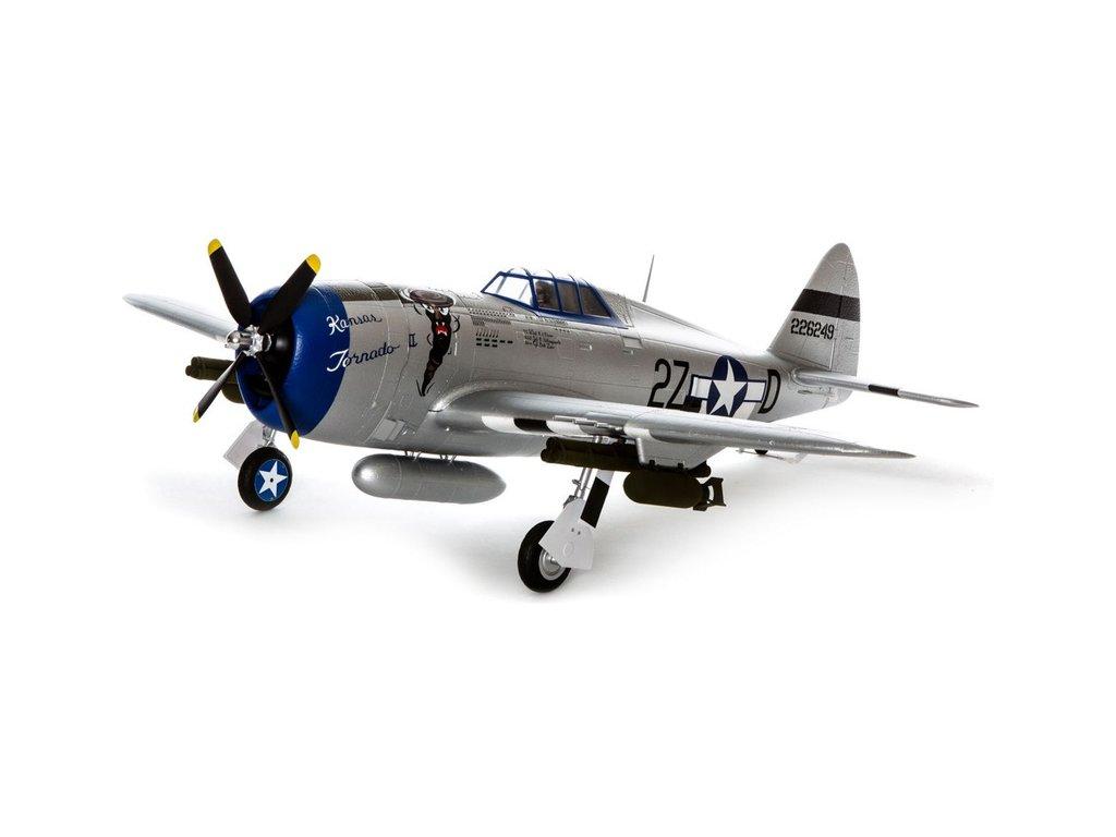 E-flite P-47 Razorback 1.2m SAFE Select BNF Basic