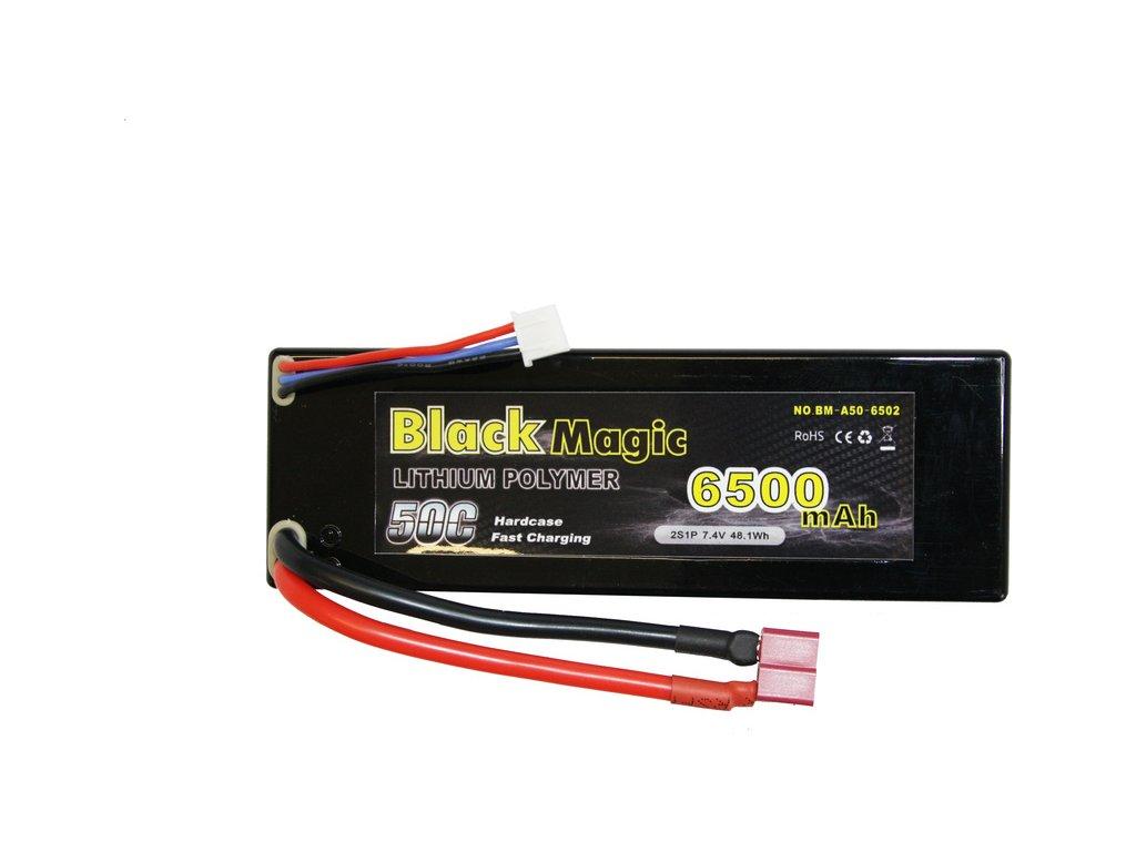 Black Magic LiPol Car 7.4V 6500mAh 50C Deans