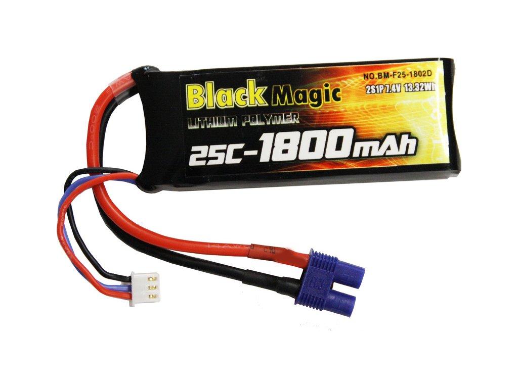 Black Magic LiPol 7.4V 1800mAh 25C EC3