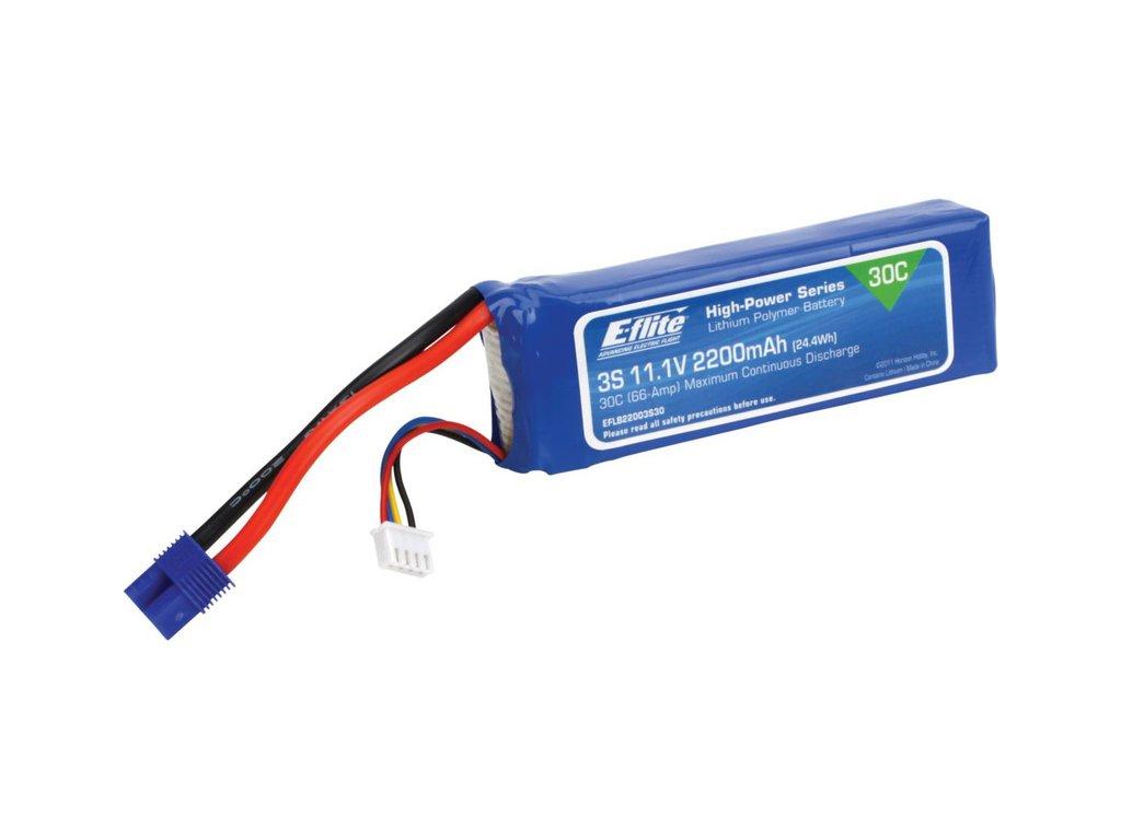 E-flite LiPo 11.1V 2200mAh 30C EC3