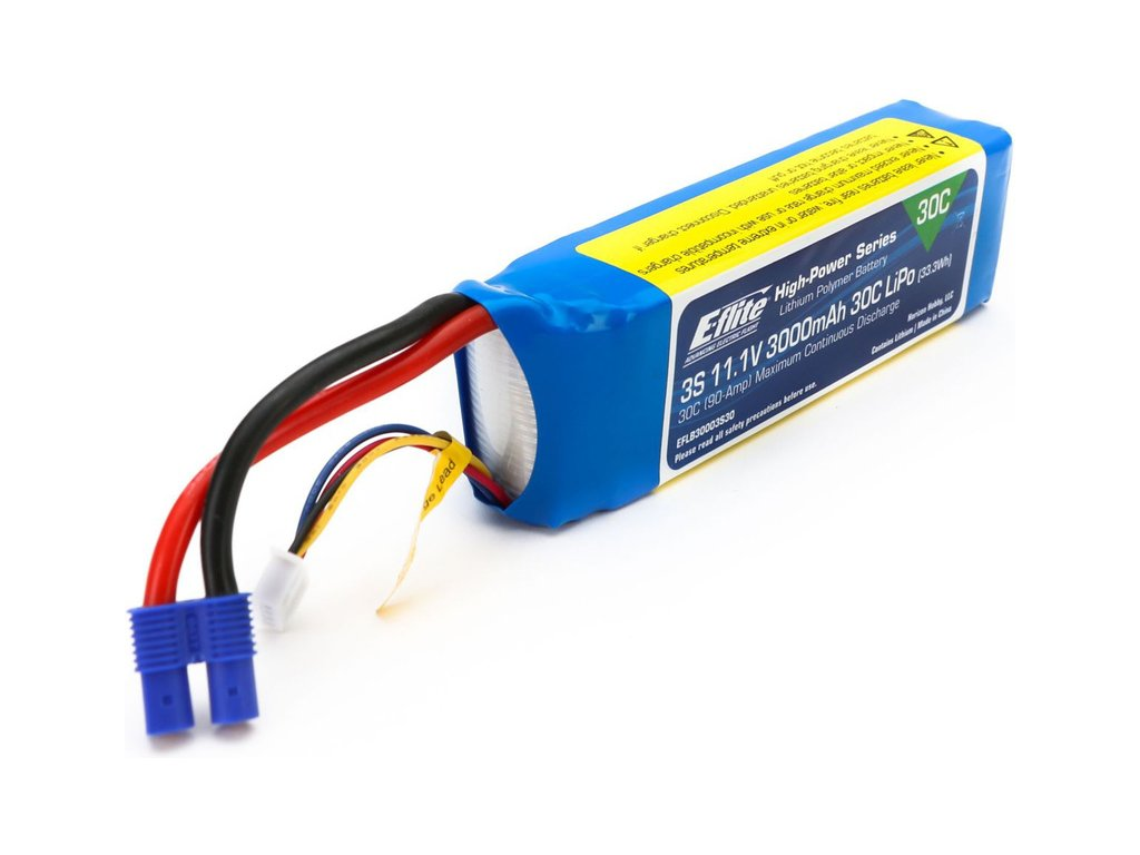 E-flite LiPo 11.1V 3000mAh 30C EC3