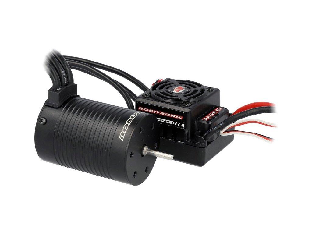 Robitronic střídavý motor Razer 3652 4000ot/V, regulátor 60A