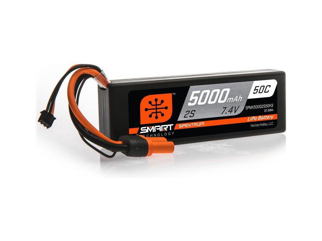 Spektrum Smart LiPo 7.4V 5000mAh 50C HC IC3