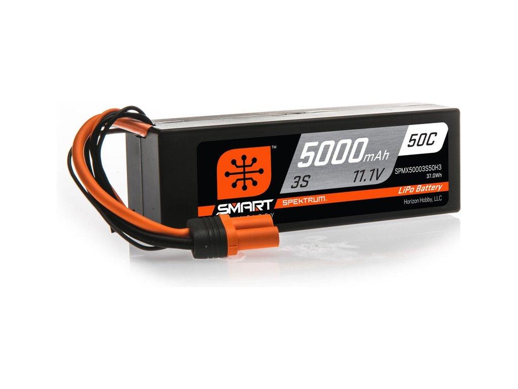 Spektrum Smart LiPo 11.1V 5000mAh 50C HC IC3