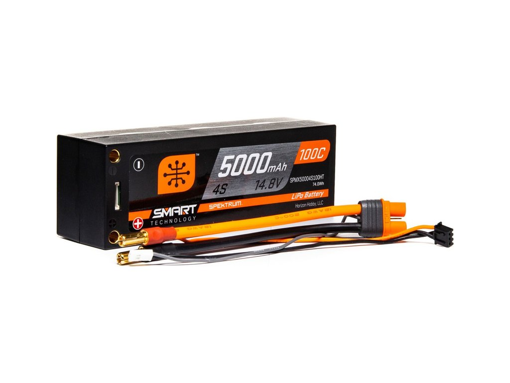Spektrum Smart LiPo 14.8V 5000mAh 100C Short HC