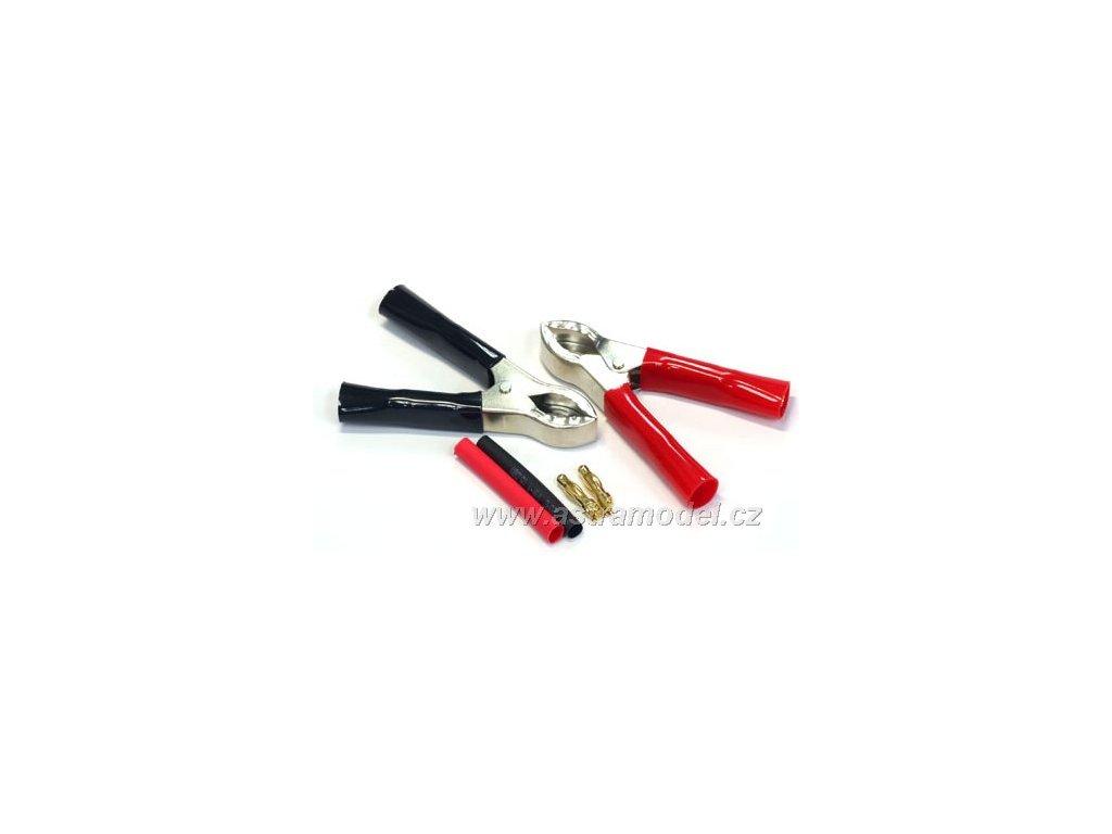 Krokosvorky se zlacenými konektory 4mm (pár)