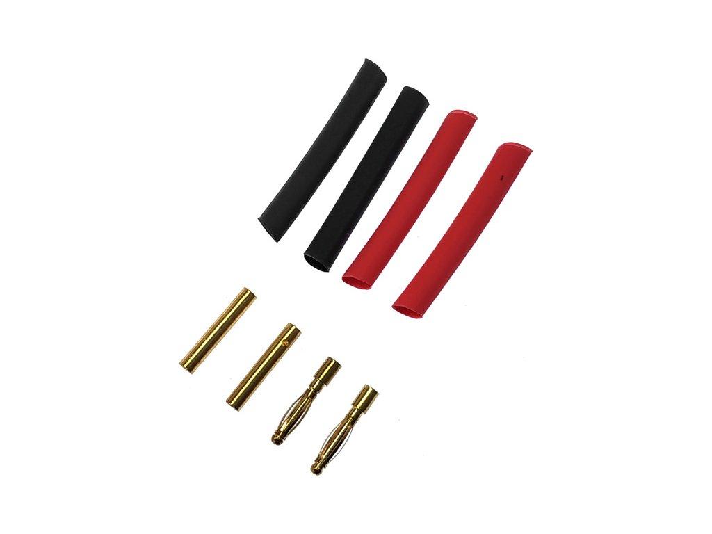Konektor zlacený 2.0mm (2 páry)