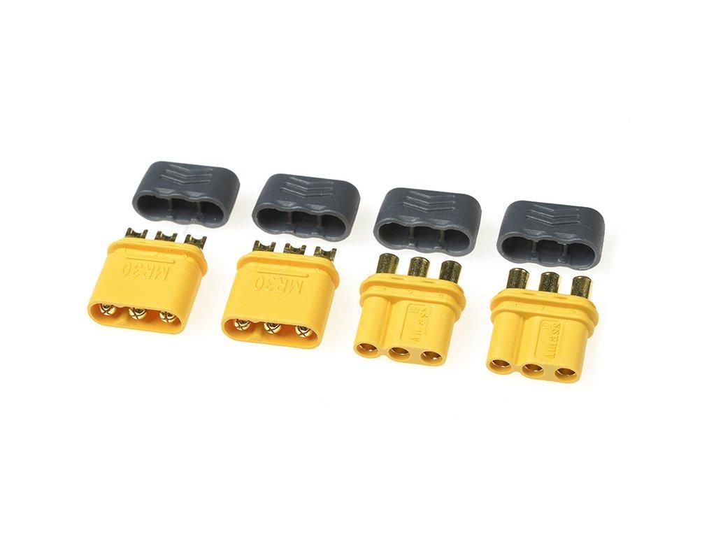 Konektor zlacený MR-30 s krytem (2 páry)