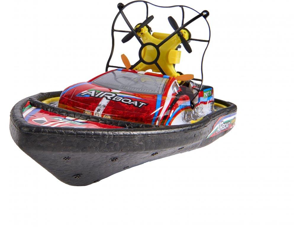 AirBoat 2v1, loď a dron, gyroskop, LED, otočky 360°, boost rychlost, 100% RTR