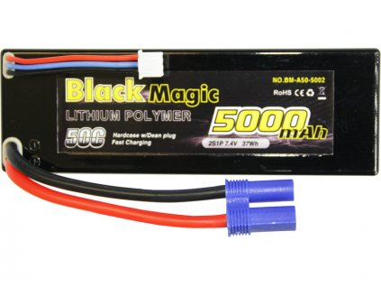 Black Magic LiPol Car 7.4V 5000mAh 50C EC3