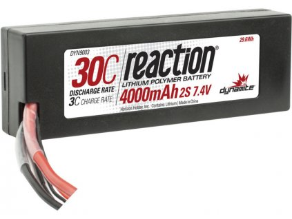 LiPol Reaction Car 7.4V 4000mAh 30C HC EC3
