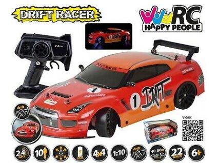 DRIFT RACER 1:10 4x4 RTR 2,4 GHz LED osvětlení