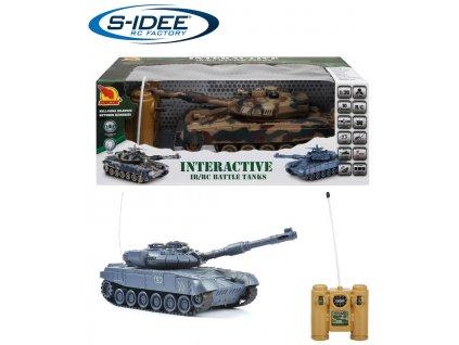Bojující tank T-90 2,4 GHz s infra dělem, bojující 1:28