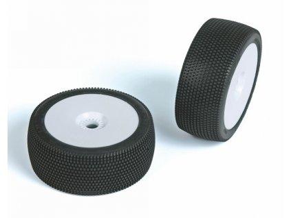 HURRICAN (medium směs) Off-Road 1:8 Buggy gumy nalep. na bílých disk. (2ks.)