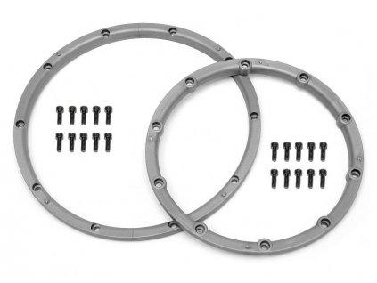 Pojistný kroužek kola, pro dva disky, stříbrný 2ks