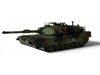 RC Tank US MBT M1A1 Abrams NATO 1/72 TANK NEOBSAHUJE NABÍJECÍ BATERII
