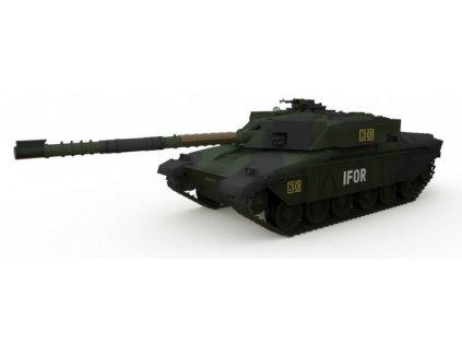 RC Tank British MBT Challenger 1 Forest 1/72 TANK NEOBSAHUJE NABÍJECÍ BATERII
