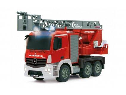 Merecedes-Benz Antos FIRE TRUCK 4WD, 1:20, funkční stříkačka a žebřík, zvuk, LED, RTR