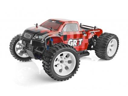 HiMOTO Monster EMXT GRIT 1:10 elektro RTR set 2,4 GHz (červené kostky) - Použitý
