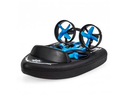 JJRC TERZETTO 3v1, vznášedlo/dron/loď, 2 rychlosti, Headless mode, 360° otočky, RTF