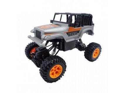 JEEP LEADER AYBY Crawler 4WD, 1:16, 2.4 GHz, RTR, stříbrný