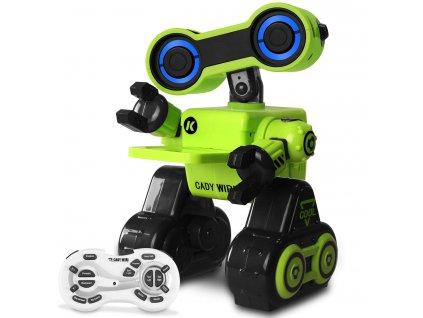Cady WIRI R13 RC Robot 2.4 GHz, mluví anglicky, znalosti z vědy, tanec a zpěv, RTR, zelený