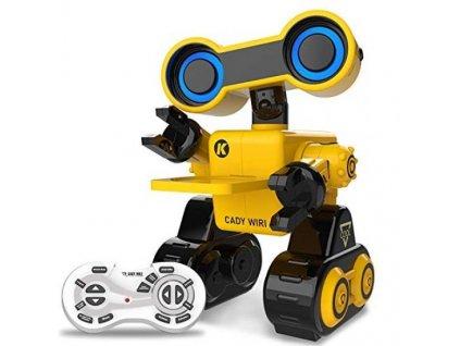 Cady WIRI R13 RC Robot 2.4 GHz, mluví anglicky, znalosti z vědy, tanec a zpěv, RTR, žlutý