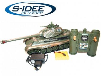 Bojující tank King Tiger 106, 2,4GHz s infra dělem, bojující 1:28