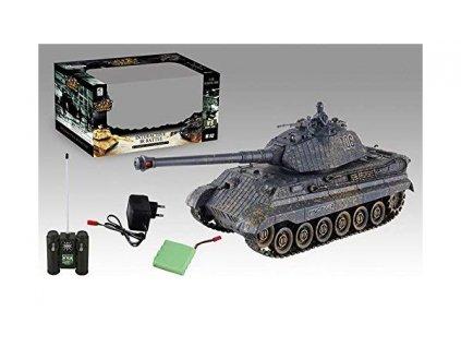 Bojující tank King Tiger 106 DIRTY, 2,4GHz s infra dělem, bojující 1:28