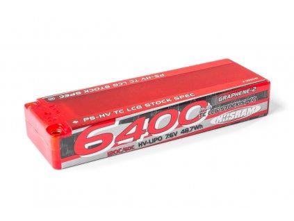 P5-HV TC LCG Stock Spec GRAPHENE-2 6400mAh Hardcase Battery - 7.6V LiPo - 120C/60C