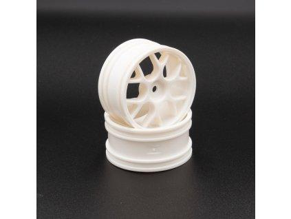 Bílé disky 12mm s šírkou 26mm, 2 ks.