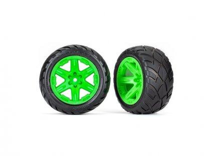 """Traxxas kolo 2.8"""", disk RXT zelený, pneu Anaconda (4WD přední/zadní, 2WD přední) (2)"""