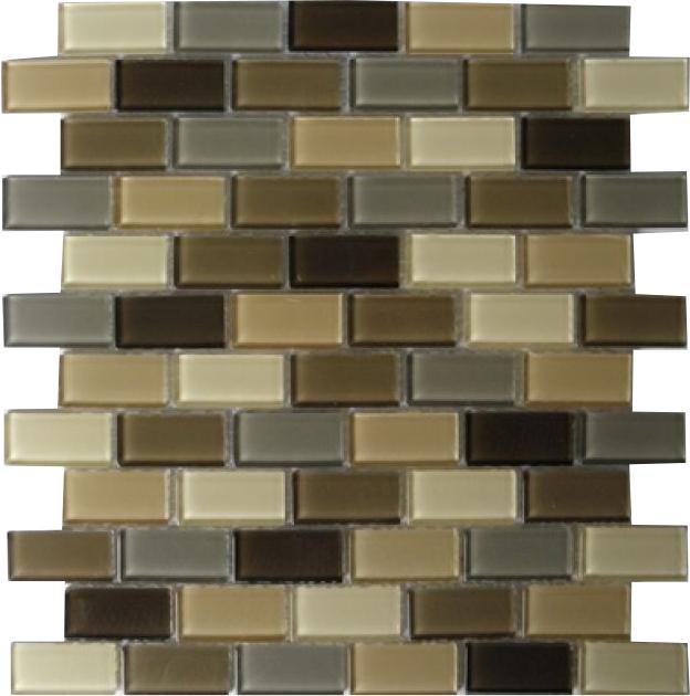 Skleněná mozaika cihla