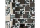 Mozaika kovová - nerezová
